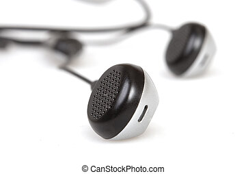Black earphones