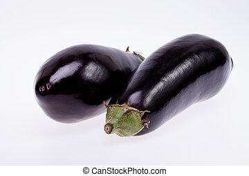 black eggplant isolated on white background