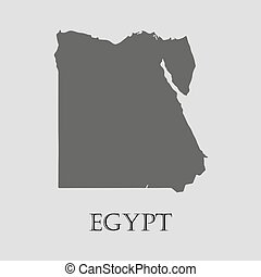 Black Egypt map - vector illustration