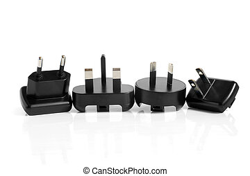 Black electrical adapters