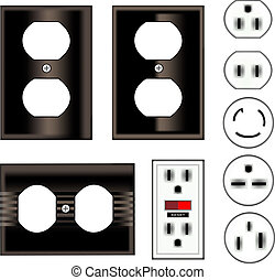 Black electrical outlets