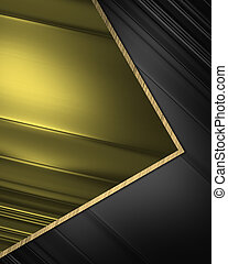 Black elegant background with gold inserts.