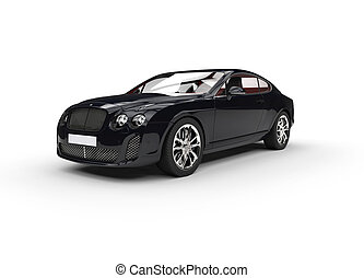Black Elegant Car On White Backgrou