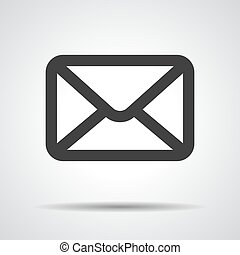 black email icon on a grey background