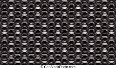 Black Embossed Hexagon Background Vector Illustration