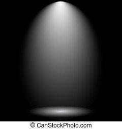 Black Empty Photo Studio
