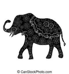 Black ethnic elephant.
