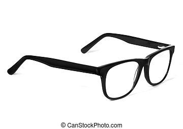 Eye Glasses - Black Eye Glasses Isolated on White