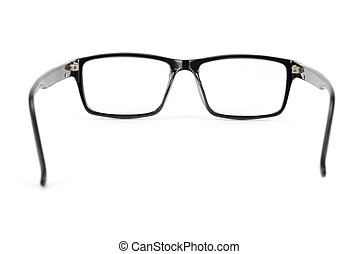 Black Eye Glasses look a bit nerd style Isolated on White background