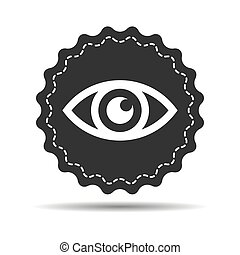 black eye icon on a white background - vector illustration