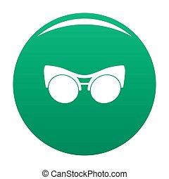 Black eyeglasses icon green