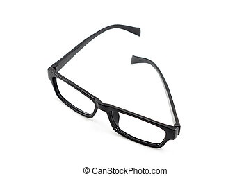 Black eyeglasses isolated on white background (glasses frame)