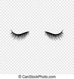 Black eyelashes. False eyelashes. Vector illustration ...