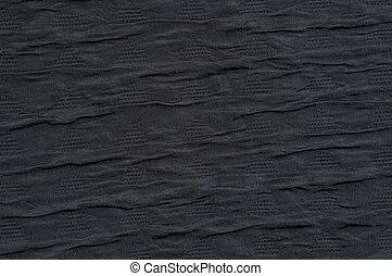 Black fabric background wave like