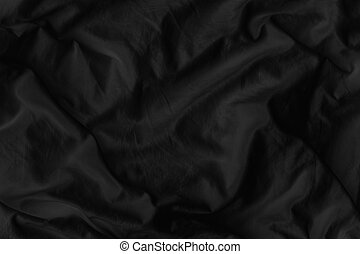 Black fabric texture for luxury cloth abstract background