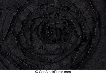 Black fabric with flower