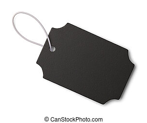 Black Fancy Slate Tag