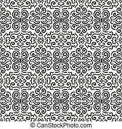 Black fantasy seamless pattern background