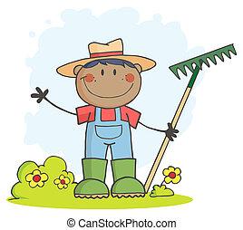 Black Farmer Boy