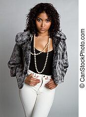 Beautiful black fashion model woman