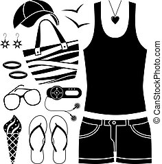 Black fashion set.