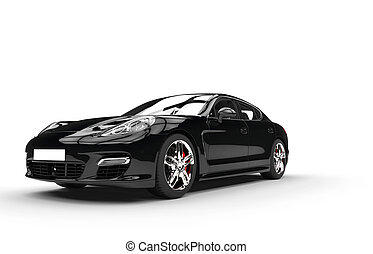 Black Fast Car Studio Shot