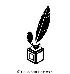 Black Feather Pen Silhouette