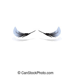 Black feathers. Vector illustration