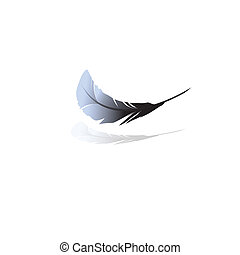Black feathers.Vector illustration