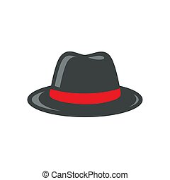 Black Fedora Hat Illustration