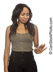 Black Female Expressions on White Background - Black female ...
