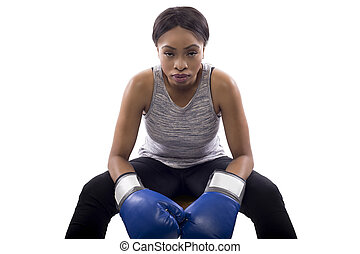 Black Female Fighter as a Boxer or MMA Fighter - Black ...
