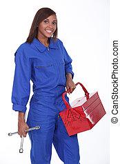 black female mechanic