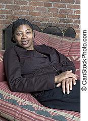 black female sexy on sofa