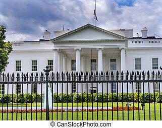 Black Fence White House Pennsylvania Ave Washington DC