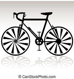black , fiets, sportende