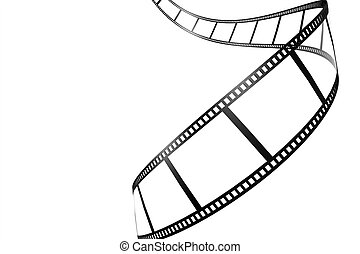 Black film strip isolated