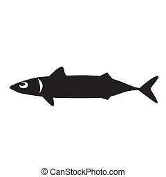 black fish icon on white background