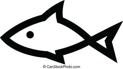 Black Fish Icon