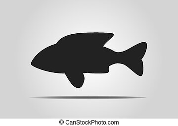 Black fish - vector illustration