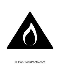 Black flammable warning symbol image