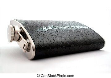 Black flask on a white background. isolated.