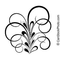 Black Flora Shape