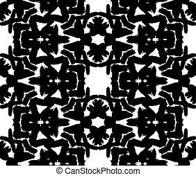 Black Floral Brush Strokes Pattern - Black Floral Brush ...