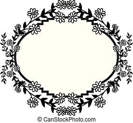 Black floral seamless pattern, design of cards, decoration wallpaper. Vector