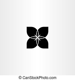 black flower bow tie vector icon symbol