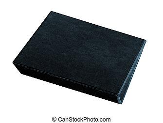 black folder isolated on white