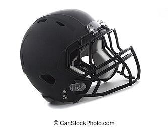 Black Football Helmet on white