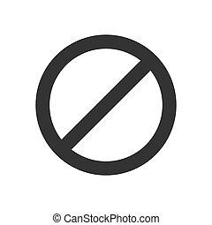 Black forbidden icon symbol