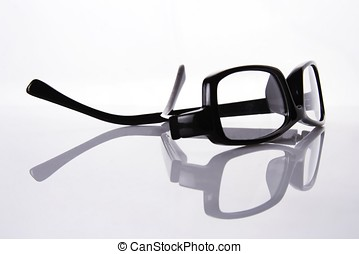 Black Frame Eyeglasses - A black frame eyeglasses in plain...